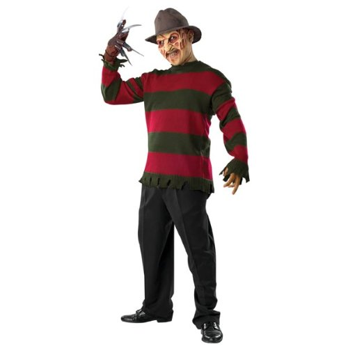 Deluxe Freddy Krueger Sweater Adult Costume - X-Large - Adult Freddy Sweater