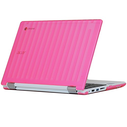 "iPearl mCover Hard Shell Case for 11.6"" Acer Chromebook R11 CB5-132T / C738T Series (NOT Compatible with Acer C720/C730/C740/CB3-111/CB3-131 Series) Convertible Laptop (Pink)"