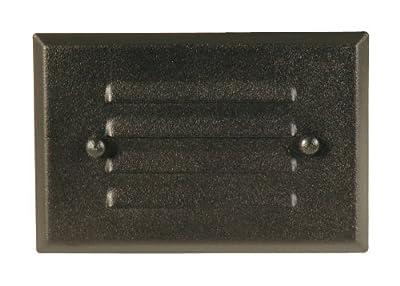 Moonrays 95757 Metal Light Fixture for Low Voltage Landscape Lighting, Rectangle Design for Deck, Black