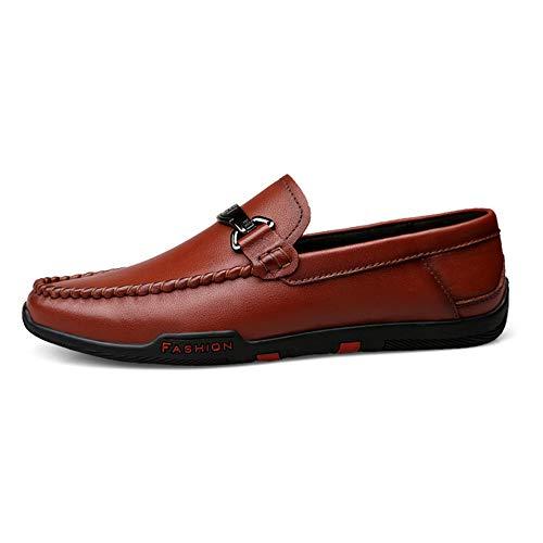 Zapatos 5cm de hombres cuero 23 Mocasín los Zapatos de de negocio rojo 0cm Zapatos gommino hombres Mocasín los Zapatos ocasionales los tamaño negro del planos barco de Rojo de genuinos 28 conducción EwqIBg0z