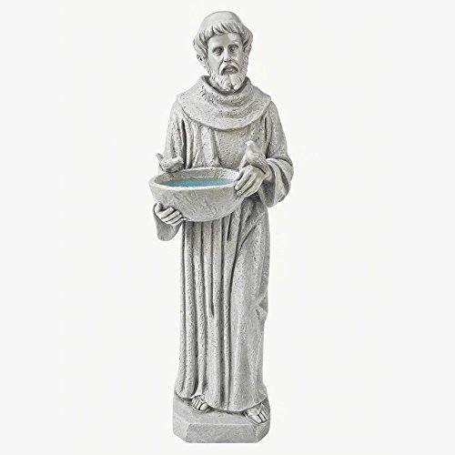 Design Toscano Nature's Nurturer: St. Francis (Lawn Ornament Religious Statue)