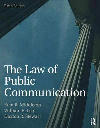 The Law of Public Communication by Routledge