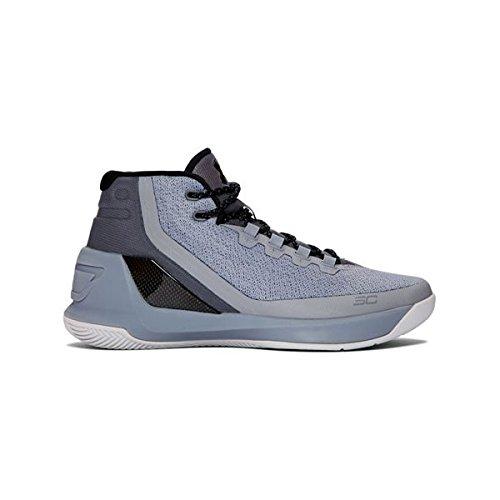Under Armour Mens Curry 3 Stl/Alu/Blk Basketball Shoe 8 Men US (Blk Mens Footwear)