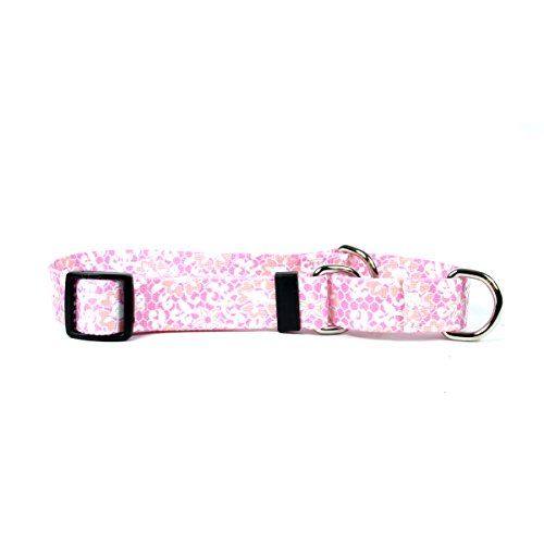 Yellow Dog Design Pink Lace Flowers Martingale Dog Collar, Small-3/4 Wide and fits Neck Sizes 12 to 16