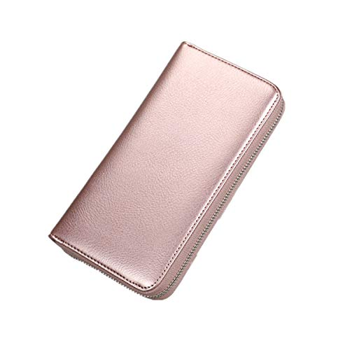 LJYH Multi Card Organizer Rfid Blocking Largecapacity Leather Card Wallet Cluth Wristlet