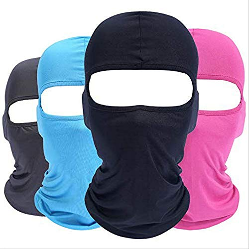 Mefashion 4pcs Cycling Ski Balaclavas Face Mask Outdoor Sports Neck Motorcycle Winter Warm Ski Snowboard Under Helmet, Sun Uv Protection Wind Black Blue Pink Grey