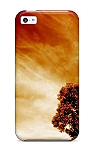 Ultra Slim Fit Hard Jeffrey Goodale Case Cover Specially Made For Iphone 5c- Fire Sky Tree Red Nature Other