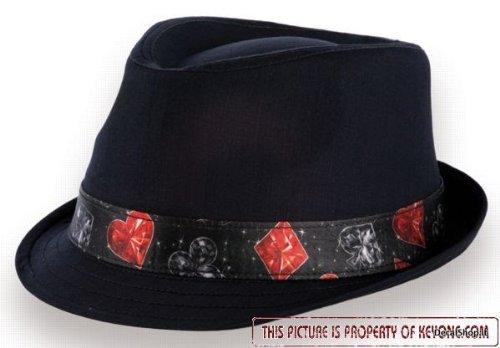 PLAYMAR tg L/XL (58/61cm) CAPPELLO Trilby NERO CAP TEXAS Hold'em Poker Texano Esclusivo Berretto Fedora ATLANTIS