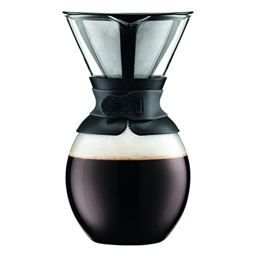 Bodum 11593-01 Pour Over Coffee Maker with Permanent Filter, 51 oz, Black
