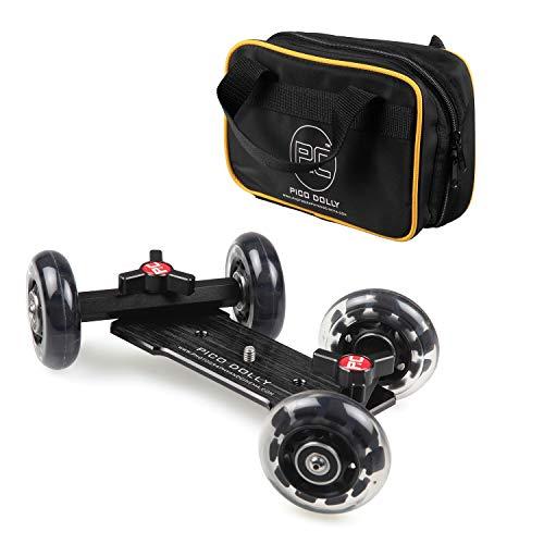 Pico Flex Dolly, Camera Table Dolly, Skater Dolly, Camera Slider Dolly, Mobile Rolling Slider Dolly Car Skater Video Track Rail, DSLR Mirroless Camera Camcorder Rig (Dolly ()
