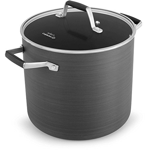 Select by Calphalon 8 Quart Hard-Anodized Non-stick Stock Pot with Cover