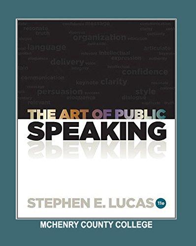 Art of Public Speaking - AIE by Stephen E Lucas (2012-05-03) ebook