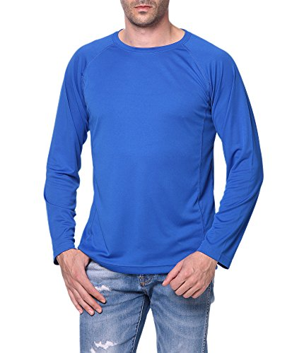 (Trailside Supply Co. Men's Standard Quick-Dry Active Sport Long Sleeve Compression Baselayer T-Shirt, Blue, Small)