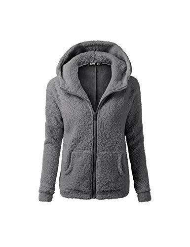 Dongtu Loukou Women Fashion Casual Solid Zipper Winter Hooded Coat Outwear Fashion Hoodies
