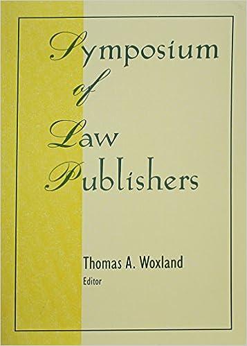 Symposium of Law Publishers (Monograph Published