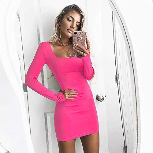 Robe B de Crayon Femme Manches Slim Vif Rose sans Jupe Femme Robe Slim FeiXiang Robe Bureau Chic qazWxv