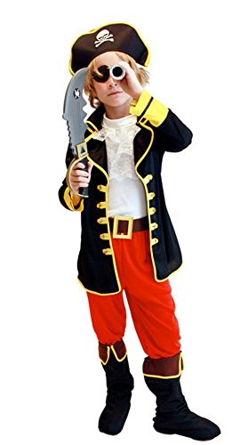 Halloween Costumes One-eyed Pirate Outfit Performance Clothing Boys Children (Large)