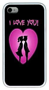 IMARTCASE iPhone 4S Case, I Love You Kiss Case for Apple iPhone 4S/5 TPU - White