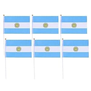 NUOBESTY Argentina Stick Flag, Mini Banderas pequeñas de ...