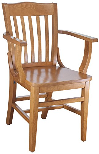 Beechwood Mountain BSD-2A-C Solid Beech Wood Arm Chair in Cherry for Kitchen & Dining, NA - Folding Chair Ladder