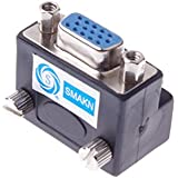SMAKN® 90° 15-pin VGA Male to Female M/f Right Angle Adapter