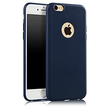 wholesale dealer 56d84 059f9 Mc Loj™ Apple iPhone 6/6S Back Cover - Slim Silicon Back Case with Matte  Finish - Dust Proof Shock Proof Mobile Back Cover - Navy Blue