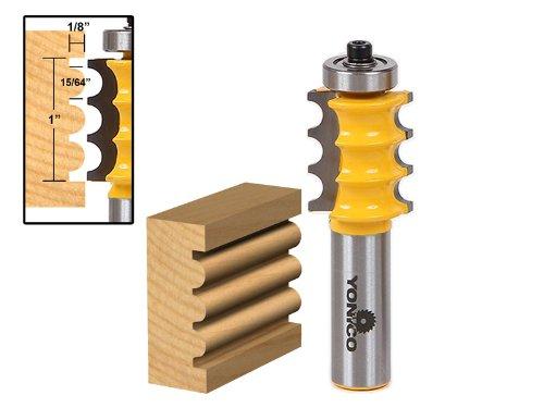 Bead Flute Router Bits (Yonico 16159 Triple Bead/Column Molding Router Bit 1/2-Inch Shank)