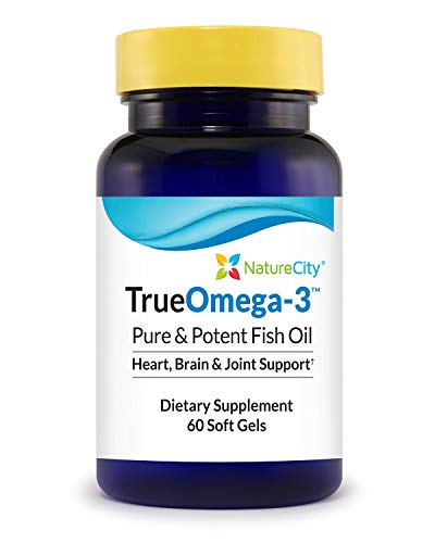 TrueOmega-3 Fish Oil 1300mg Supplement | 818mg of EPA &DHA, Burpless – 60 Soft Gels For Sale