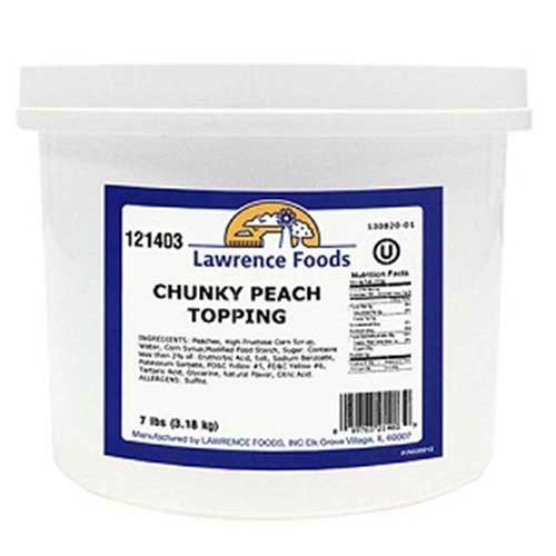 Lawrence Foods Chunky Peach Dessert Topping, 0.75 Gallon Pail -- 4 per case. by Lawrence Foods