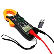 Digital Clamp Meter Multimeters,Auto-Ranging Electrical Digital Multimeter Tester with NCV AC/DC voltmeter with Voltage, AC Current, Amp, Volt, Ohm, Diode and Resistance,Capacitance Test Tester