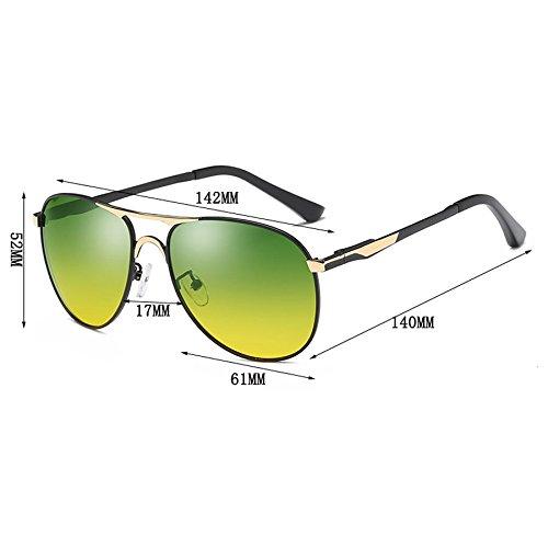 Noche Gafas los Gafas Día Hombres Gafas de de de Visión Conducción Gafas de Polarizer de Espejo Nocturna Sol de Gafas de Conducción Sol Sol y Espejo de OBzOqw