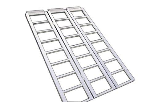 Erickson 07458 Double Hinged Folding Aluminum Ramp, 1500 lb Rated, 69″ x 45″
