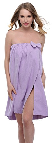 ExpressBuyNow Spa Bath Towel Wrap For Ladies, 10 Colors, Purple