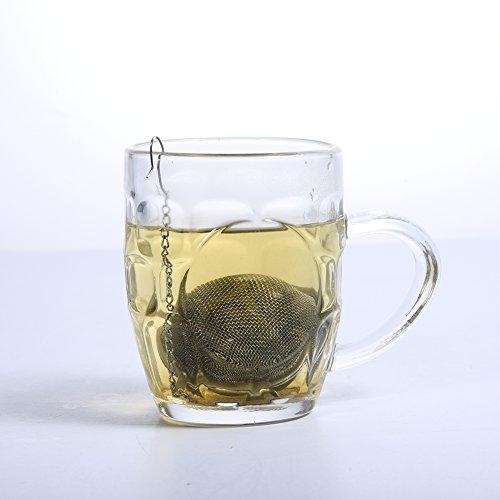 wonderfulwu 2 PCS Stainless Steel Tea Ball Strainer Infuser for Loose Leaf Tea Spices (9 cm / 3.54 in)