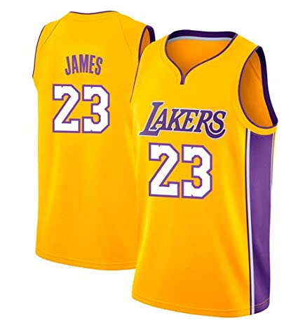 VICTOREM Lebron James #23 Camiseta de Baloncesto para Hombres - NBA Lakers, Nuevo Tela Bordada Camiseta Deportivas de Jersey Swingman (Tamaño: S-XXL): ...