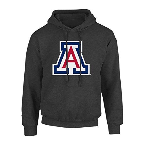 (Elite Fan Shop NCAA Men's Arizona Wildcats Hoodie Sweatshirt Dark Heather Icon Arizona Wildcats Dark Heather)