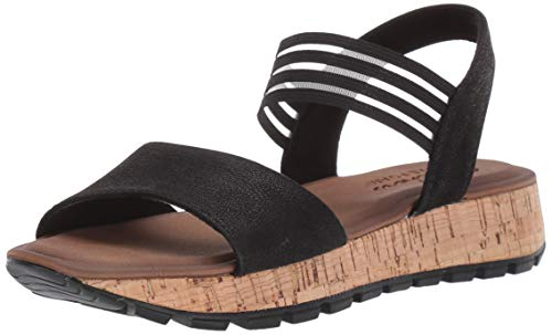 (Skechers Cali Women's Footsteps-Markers Sandal,black,9 M US)