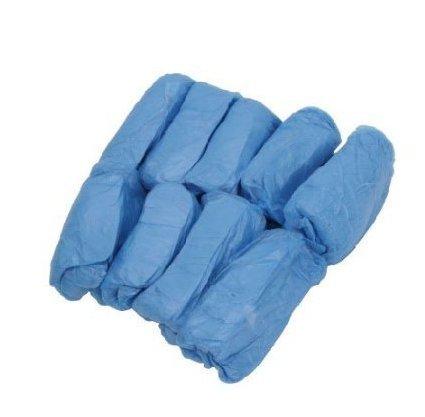 Wiwi.f 100 Paquets Unisexe Couvre-Chaussures en Plastique Jetable Couvre-Chaussures Hygi/énique Imperm/éable Bleu