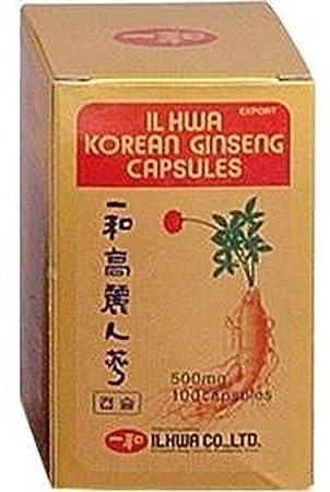 Ginseng Il Hwa Tarro 100 cápsulas de Tongil: Amazon.es: Salud y cuidado personal