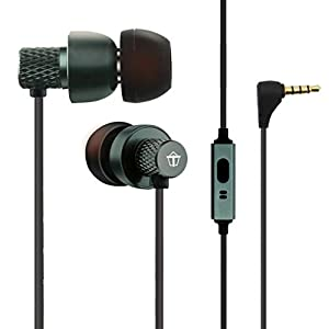 Tantra T1000 Super Extra Bass 225 Earphones Subwoofer Noise Cancellation Wired Headphones (Metal Grey) 10