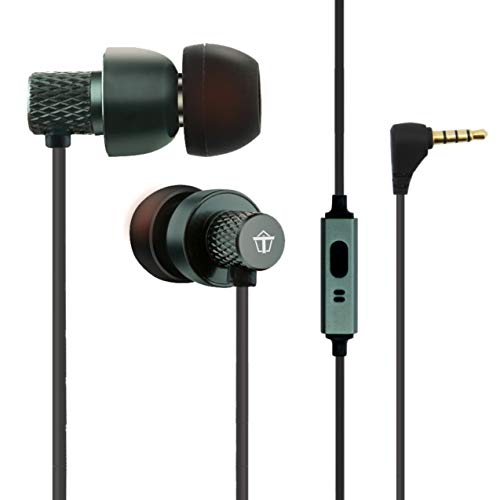 Tantra T1000 Super Extra Bass 225 Earphones Subwoofer Noise Cancellation Wired Headphones (Metal Grey) 1