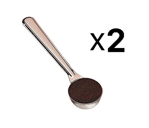 Espresso Supply Stainless Steel Doser Scoop, 1-Ounce (2 pack) by Espresso Supply