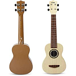 aPerfectLife Ukulele Guitar for Kids, 23 Inch Nylon-String Starter Classical Guitar for Beginner Children (White)
