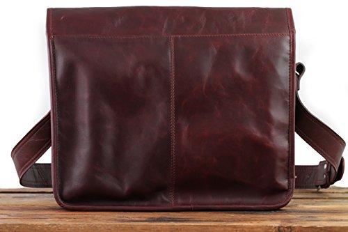 LA SACOCHE Herbstbraun (L) Vintage-Ledertasche Handtasche Schultertasche Herbst braun PAUL MARIUS