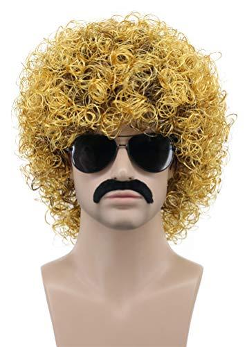 Karlery Mens Rocker Short Curly Black and