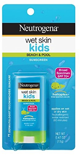 Wet Stick (Neutrogena Wet Skin Kids Sunscreen Stick, SPF 70, 0.47 oz (Pack of 9))