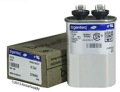 2 Pack Goodman B945672 125 Uf Mfd 370 440 Vac Amrad. 97f9003 125 Uf Mfd 370 Volt Vac Ge Oval Run Capacitor Upgrade. Wiring. 97f9003 Capacitor Wire Diagram At Scoala.co