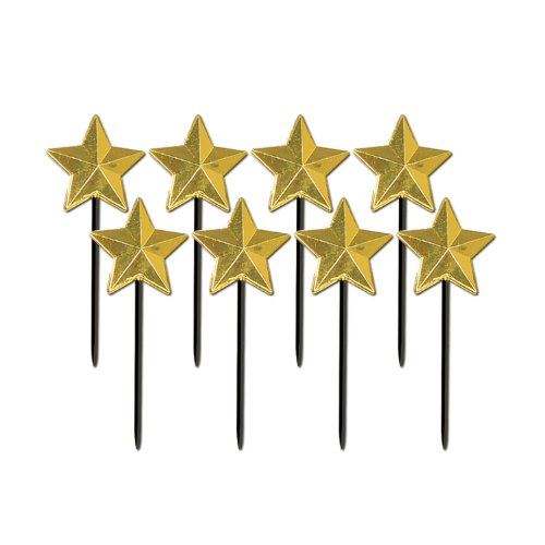 Star Picks (gold)    (8/Pkg) Academy Awards Party Supplies