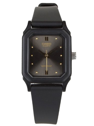 Casio LQ142E-1A Casio Resin Ladies Analog Watch - Black / Gold Dot / Black / One Size
