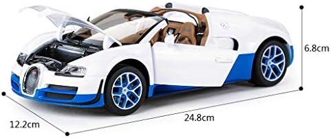 YN モデルカー コンバーチブルモデルブガッティエンターテイメント玩具合金シミュレーション男の子のおもちゃの車スタティックカーモデル1:18ホリデーギフト ミニカー (Color : BLACK)
